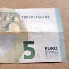 Problemen in het begin met nieuwe 5 eurobiljet